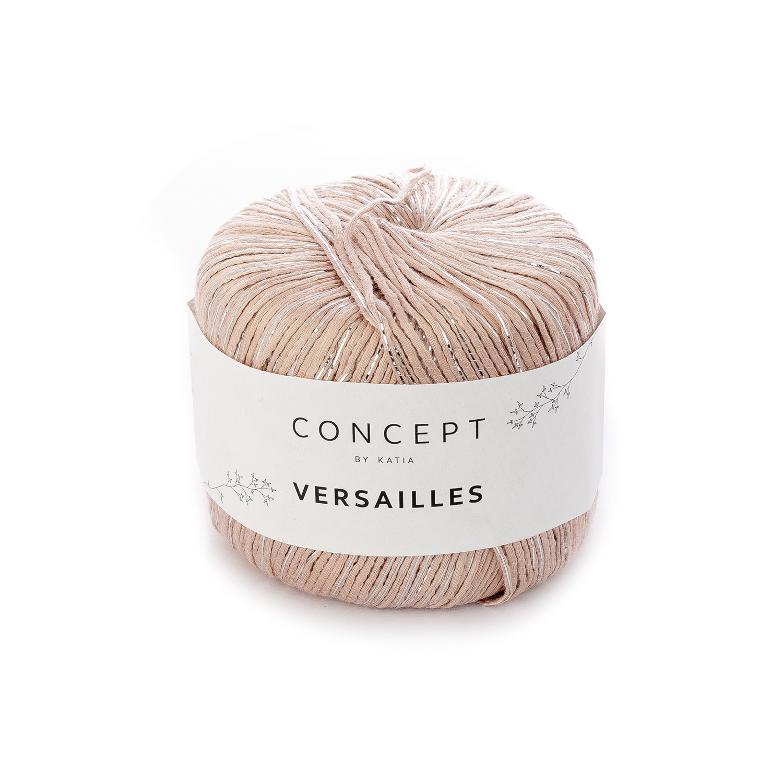 wol-garens-versailles-breien-viscose-polyester-polyamide-medium-bleekrood-zilver-lente-zomer-katia-85-g